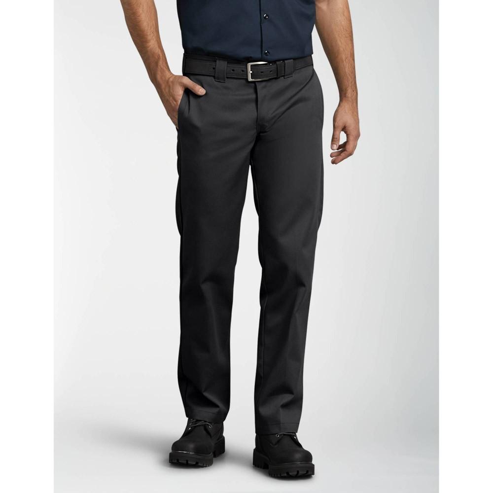 Dickies Men 39 S Slim Fit Straight Leg Work Pants Black 28x30