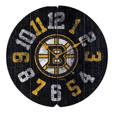 NHL Boston Bruins Vintage Round Clock - image 1 of 1
