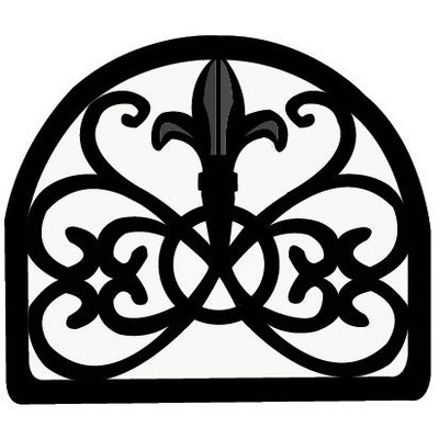 Home Basics Cast Iron Fleur De Lis Napkin Holder, Black