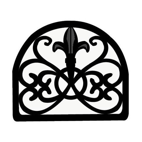 Home Basics Cast Iron Fleur De Lis Napkin Holder, Black - image 1 of 4