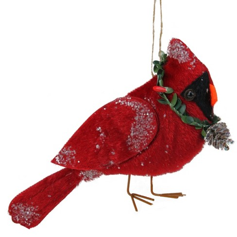 """Northlight 7"""" Glittered Red Cardinal Bird Hanging Christmas Ornament - image 1 of 2"""