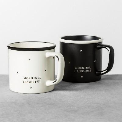 Morning Handsome + Morning Beautiful Mug Set of 2 - Hearth & Hand™ with Magnolia