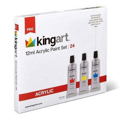 Kingart 24ct 12ml Acrylic Paint Set