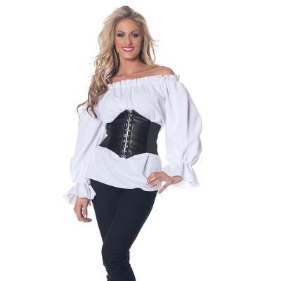 Underwraps Costumes Renaissance Long Sleeve White Blouse Adult