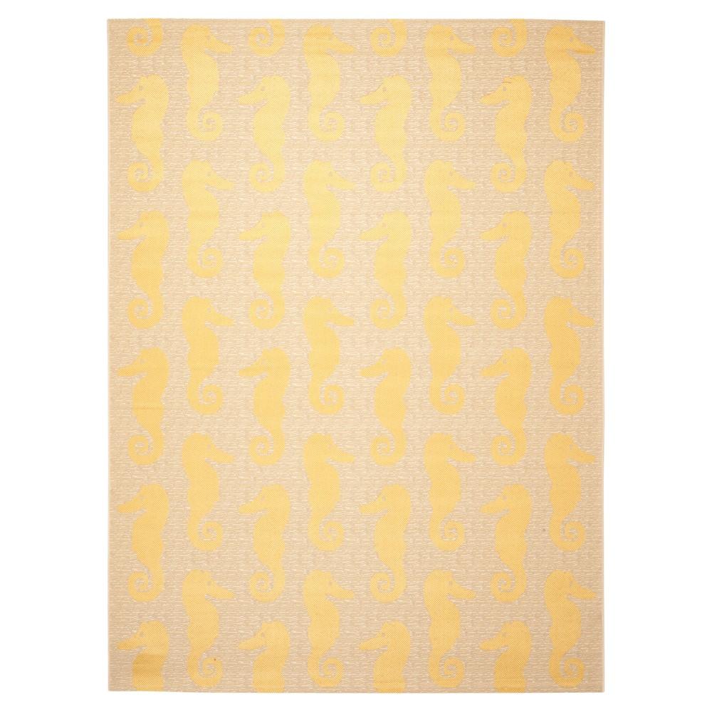 8' x 11' Blanchard Outdoor Rug Beige/Yellow - Safavieh