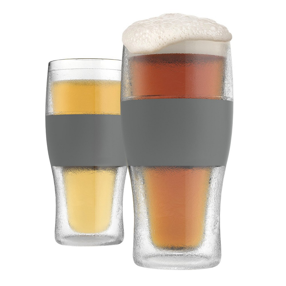 True Fabrications Plastic Beer Glasses 32oz Gray - Set of 2