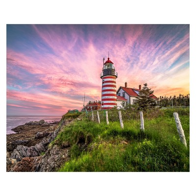 Springbok West Quoddy Head Lighthouse Puzzle 1000pc