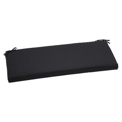 Sunbrella Canvas Outdoor Bench Cushion - Black
