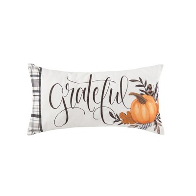 """C&F Home 12"""" x 24"""" Grateful Embroidered Fall Throw Pillow"""