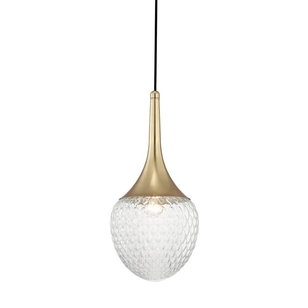 Bella 1-Light Pendant Chandelier Style B Aged Brass - Mitzi by Hudson Valley Cheap