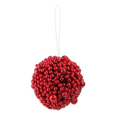 "Northlight 5"" Artificial Festive Berries Ball Christmas Ornament - Red"