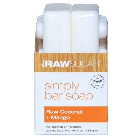 Raw Sugar Simply Bar Soap Raw Coconut + Mango - 2pk - image 1 of 3