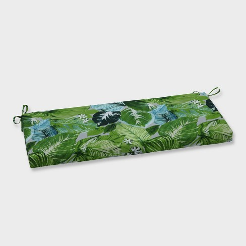 Lush Leaf Jungle Outdoor Bench Cushion Green - Pillow Perfect - image 1 of 1