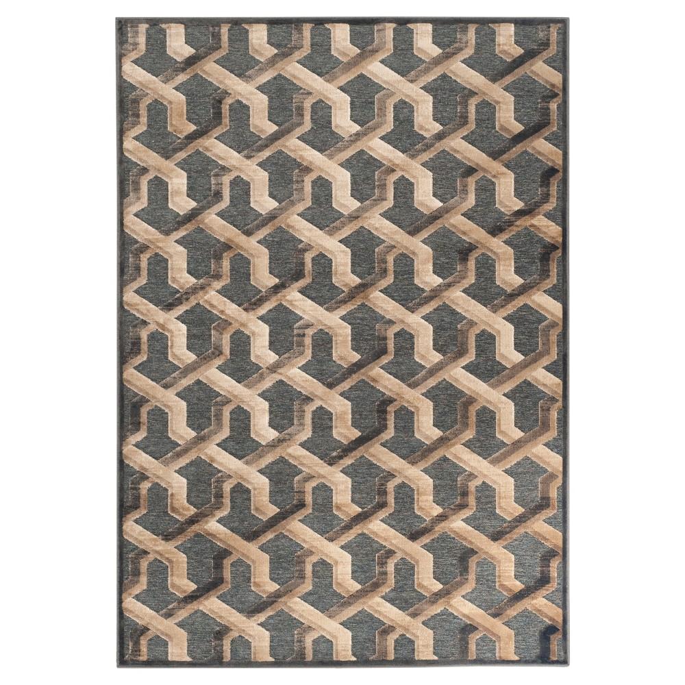 Delmare Viscose Area Rug - Soft Anthracite (Grey) (4'x5'7) - Safavieh