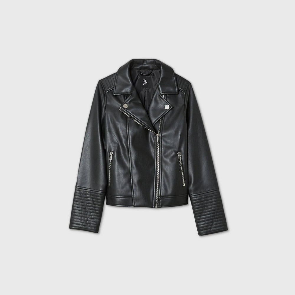 Compare Girls' Faux Leather oto Jacket - art class™