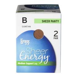 L'eggs® Women's 2-Pack Sheer Energy Sheer Pantyhose