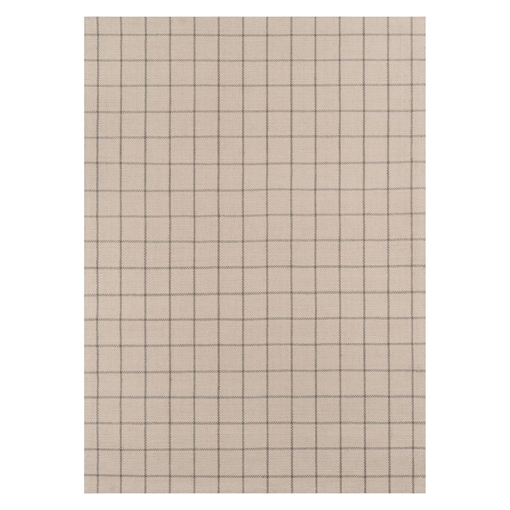 8'X10' Plaid Woven Area Rug Ivory - Erin Gates By Momeni
