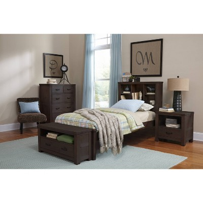 Kids' Twin Highlands Bookcase Bed Espresso - Hillsdale Furniture