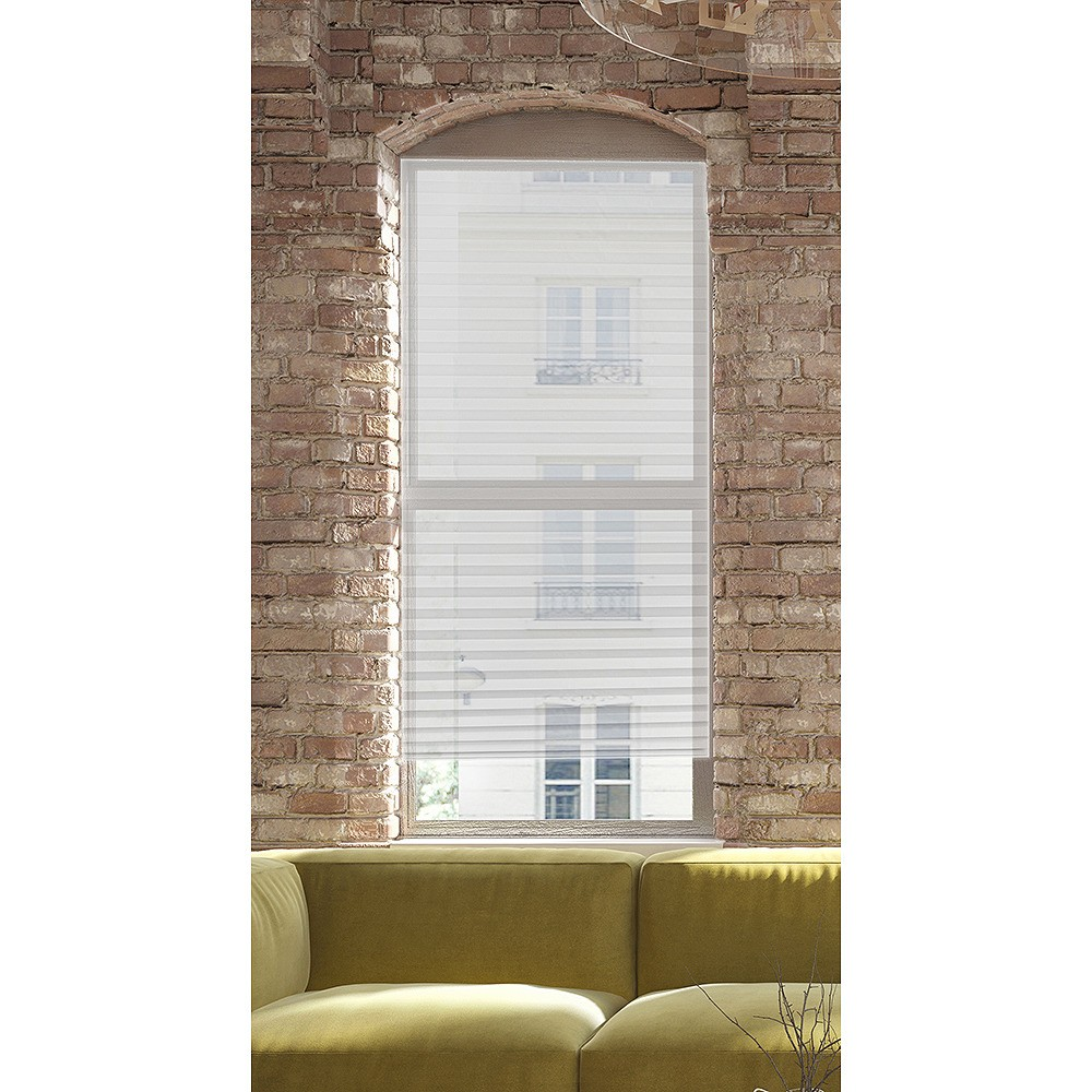 "Image of ""36.81""""x3.5"""" Pack of 6 Temp Shade with EZ Clips Room Darkening Panel Window Shade White - Lumi"""