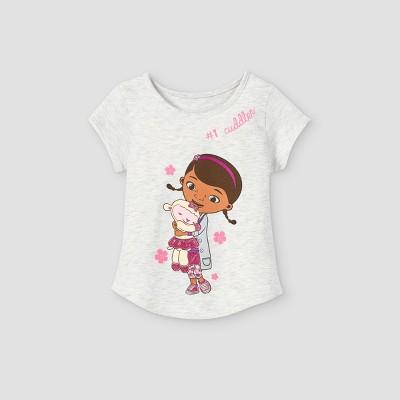 Toddler Girls' Doc McStuffins Short Sleeve Graphic T-Shirt - Gray
