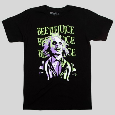 Men's Beetlejuice Short Sleeve Graphic T-Shirt - Black