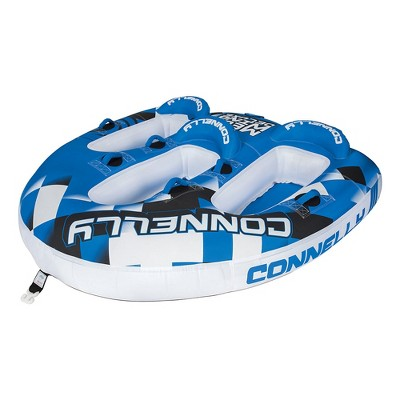 Connelly 67170006 Mega Wing Deluxe Inflatable Towable Lake River Water Tube for 3 People, Blue