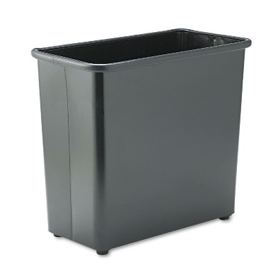 Safco Rectangular Wastebasket Steel 27.5qt Black 9616BL