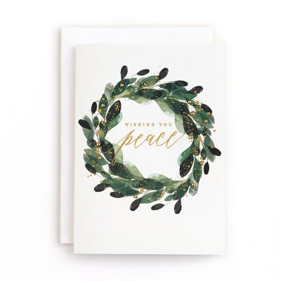 Minted 10ct Greenery Wreath Boxed Cards