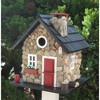 Home Bazaar CC-2024 Windy Ridge Decorative Stone Cottage Bird House, Red & Black - image 2 of 2