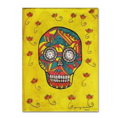 "24"" x 32"" Skull by Tammy Kushnir - Trademark Fine Art"