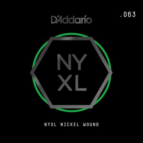 D'Addario NYNW063 NYXL Nickel Wound Electric Guitar Single String, .063 - image 1 of 2