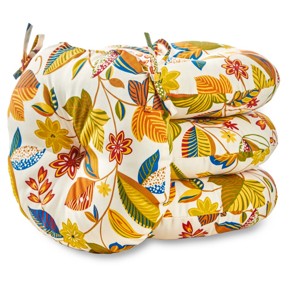 Image of 4pk 15 Esprit Floral Outdoor Bistro Chair Cushions - Greendale Home Fashions