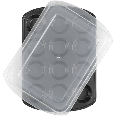 Wilton 12 Cup Perfect Results Premium Non-Stick Bakeware Muffin Pan with Cover