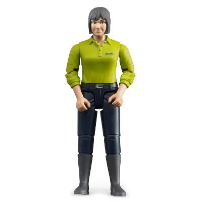 Bruder Woman with Green Shirt, Dark Blue Jeans Figure