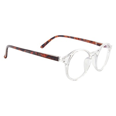 3a85845cf51d ICU Eyewear Screen Vision Blue Light Blocker Round Clear with Tortoise  Temples Glasses