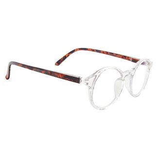ICU Eyewear Screen Vision Blue Light Blocker Round Clear with Tortoise Temples Glasses