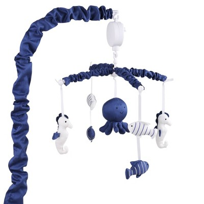 The Peanut Shell Nautical Musical Mobile - Navy
