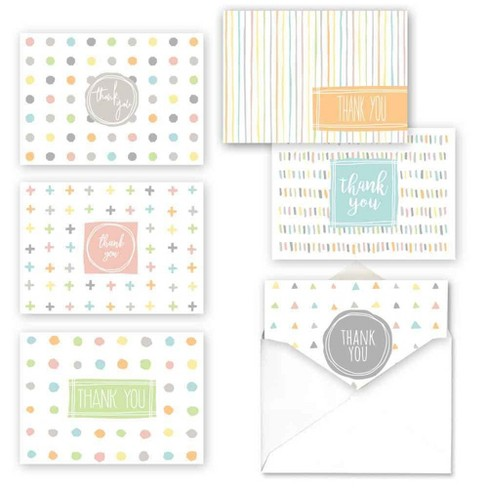 36ct Simply Shapes Baby Thank You Assortment Card Packs - image 1 of 2
