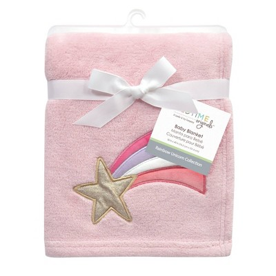 Bedtime Originals Shooting Star Soft Baby Blanket - Rainbow Unicorn