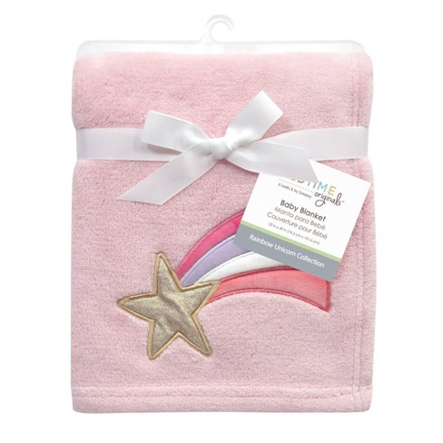 Bedtime Originals Shooting Star Soft Baby Blanket - Rainbow Unicorn - image 1 of 4