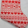 """Northlight 15"""" Red and White Heart and Snowflake Knit Christmas Stocking with White Faux Fur Cuff - image 3 of 4"""