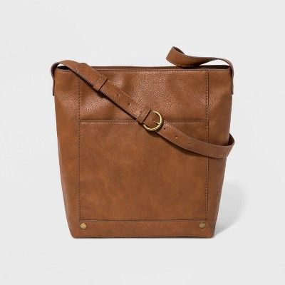 Zip Closure Bucket Bag - Universal Thread™ Cognac