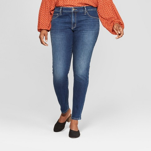 1e73404c1bbfe3 Women's Plus Size Jeggings - Universal Thread™ Dark Wash : Target