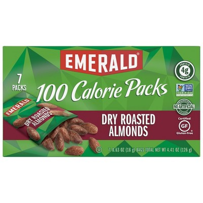 Emerald Dry Roasted Almonds 100 Calorie - 4.41oz/7ct