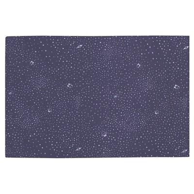 Babyletto Galaxy Crib Skirt - Navy Stars