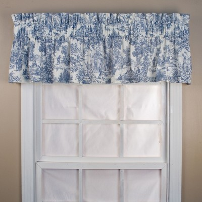 Ellis Curtain Victoria Park Toile High Quality Fabric Water Proof Room Darkening Blackout Tailored Window Valance - 70 x 12""