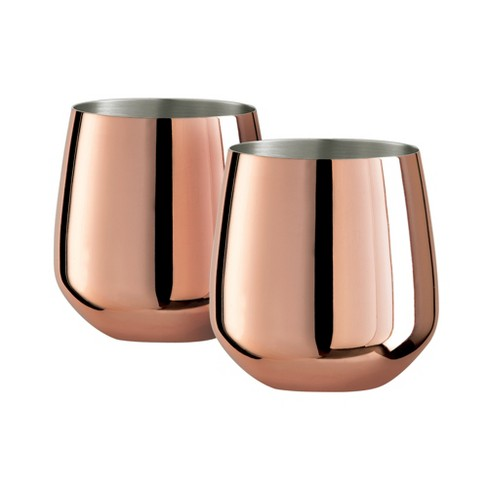 Oggi Copper Plated Stainless Steel 17 Ounce Wine Tumbler, Set of 2 - image 1 of 1