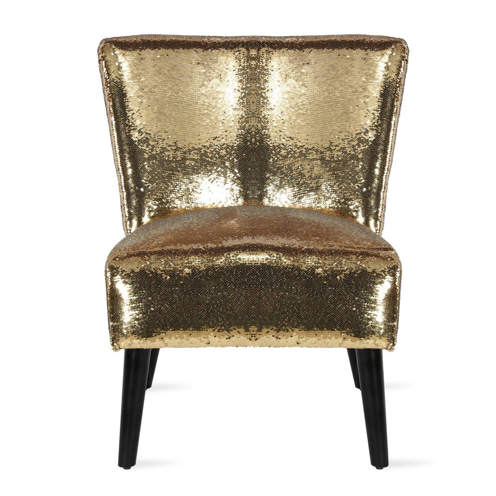 Image of Mazzy Sequin Accent Chair Gold - Novogratz