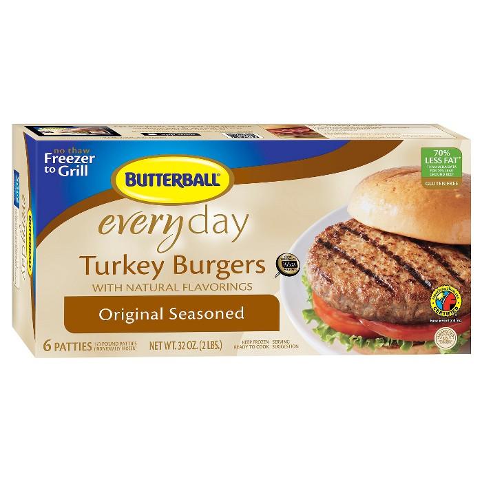 Butterball Seasoned Turkey Burger - 2lb - image 1 of 1