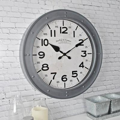"""18"""" Donovan Wall Clock Gray - FirsTime & Co."""